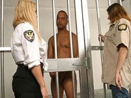 Female prison guards make this male prisoner strip for them