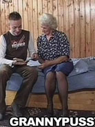 Young stud fucking busty granny