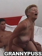 Sweet old granny fucks neighbours son