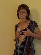 64 y.o. granny ass-fucked in an empty apartment
